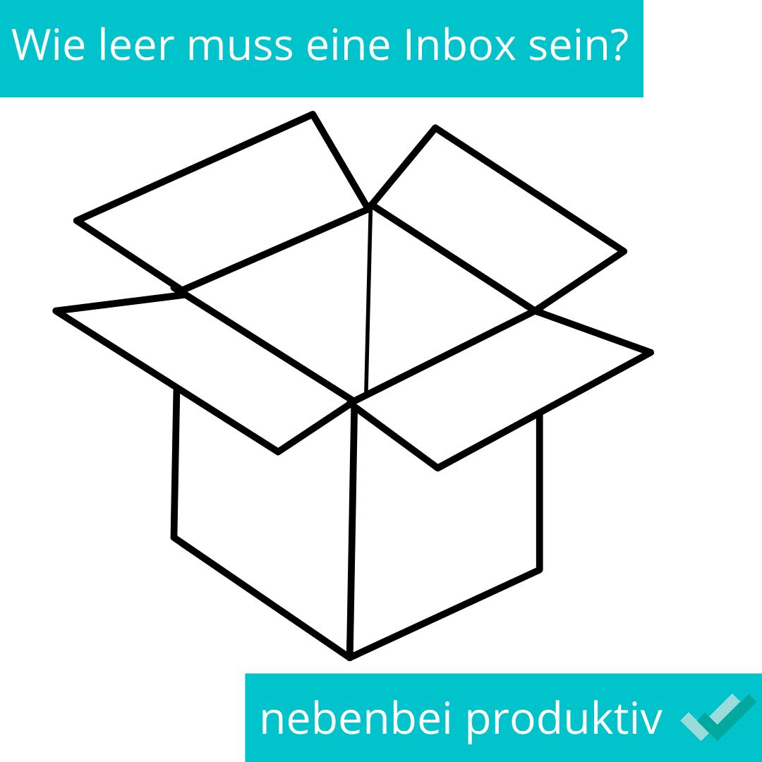 Wie leer muss eine Inbox sein?